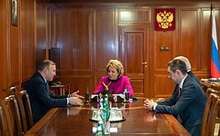 Председатель СФ провела встречу сглавой Республики Адыгея