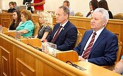 А. Башкин принял участие впубличных слушаниях, посвященных анализу исполнения бюджета Астраханской области в2016году