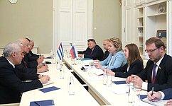 Российско-кубинская дружба проверена временем— В.Матвиенко