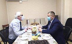 Д. Гусев встретился сруководством первичной организации Всероссийского общества слепых Ненецкого автономного округа