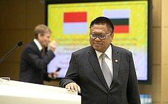 Перед членами СФ выступил Председатель Совета представителей регионов Народного консультативного конгресса Республики Индонезии