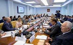 ВСовете Федерации обсудили совершенствование закона обосновах госрегулирования торговой деятельности