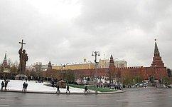 В. Матвиенко приняла участие вцеремонии открытия памятника князю Владимиру вМоскве