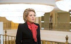 В. Матвиенко: Конгресс соотечественников– важный инструмент развития взаимоотношений между Россией изарубежным Русским миром