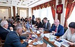 В.Матвиенко: Для России Куба остается важным стратегическим партнером иверным, надежным другом влатиноамериканском регионе