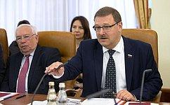 К.Косачев: Уроссийских иармянских парламентариев сложился уникальный формат сотрудничества
