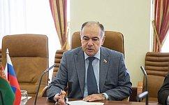 Вице-спикер СФ И. Умаханов провел встречу сПослом Туркменистана вМосквеБ. Реджеповым