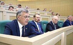 Сенаторы обсудили вопросы сохранения лесов вРоссии ипроблему утилизационного сбора насельхозтехнику