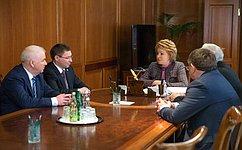 Председатель СФ В.Матвиенко игубернатор В.Якушев обсудили перспективы социально-экономического развития Тюменской области