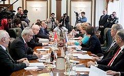В. Матвиенко: Парламентарии России иТурции должны активизировать двустороннее взаимодействие вмеждународных парламентских организациях