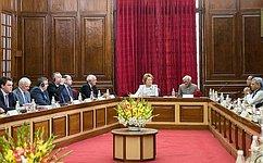 Валентина Матвиенко призвала индийских коллег активизировать межпарламентский диалог сРоссией
