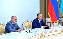 И.Умаханов принял участие вработе Комиссии посотрудничеству между Советом Федерации иСенатом Парламента Казахстана