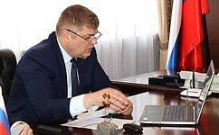 Д. Василенко провел дистанционный прием граждан вЛенинградской области