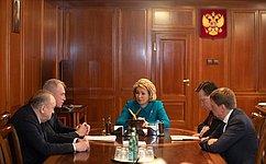 В.Матвиенко иС.Морозов обсудили перспективы развития Ульяновской области
