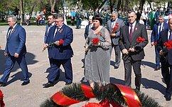 Е. Афанасьева: Мы чтим ипомним тех, кто нежалея своей жизни защищал Отечество, кто подарил нам мир