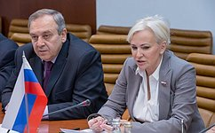 Сенаторы О. Ковитиди иС. Мамедов провели встречу сПослом Греции вМоскве Данаи-Магдалини Куманаку