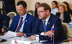 К.Косачев проинформировал членов постоянной комиссии МПА СНГ пополитическим вопросам имеждународному сотрудничеству одеятельности Совета Федерации, направленной назащиту государственного суверенитета ипредотвращению вмешательства вовнутренние дела Российской Федерации