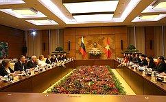 Состоялась встреча Председателя Совета Федерации иПредседателя Национального собрания Социалистической Республики Вьетнам