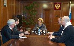 Председатель СФ В. Матвиенко игубернатор Орловской области В.Потомский обсудили перспективы социально-экономического развития региона