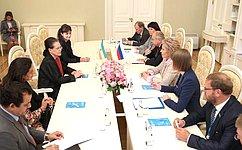 Женское сотрудничество должно развиваться навсех международных площадках— В.Матвиенко