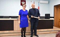 Сенатор Российской Федерации В.Назаров совершил рабочую поездку вБольшереченский муниципальный район Омской области