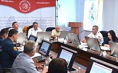 Ю.Воробьев провел совещание вАрктическом спасательном центре «Вытегра»