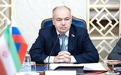 И.Умаханов: Мы заинтересованы вразвитии межгосударственных, межпарламентских имежрегиональных связей c Ираном