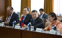 В. Матвиенко: Россия иМонголия работают над «дорожной картой» поактивизации сотрудничества
