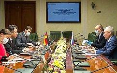 Член Комитета СФ помеждународным делам А.Климов провел встречу сПослом Германии вРоссии Г.А.фонГайром