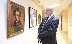 ВСовете Федерации открылась выставка молодых художников «Карамзин, Пушкин– эпоха ивремя»