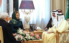 Состоялась встреча Председателя СФ сКоролем Саудовской Аравии