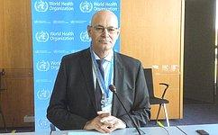 В. Круглый представил вВОЗ доклад «Нерешительность вотношении вакцинации: серьезная проблема общественного здравоохранения»