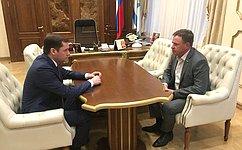 В. Новожилов обсудил сА.Цыбульским вопросы развития Вельского района