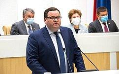 ВСовете Федерации выступил Министр труда исоциальной защиты России А.Котяков