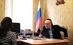 А.Тотоонов провел прием граждан вселении Гизель Республики Северная Осетия– Алания