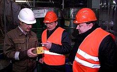 О.Цепкин посетил вЧелябинске первый вРоссии завод попереработке иутилизации батареек