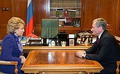 Председатель Совета Федерации игубернатор Курганской области обсудили социально-экономическое развитие региона