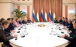 Визит делегации Совета Федерации вТаджикистан