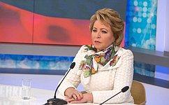 В. Матвиенко поздравила Н.Назарбаева сюбилеем
