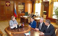 В. Матвиенко обсудила сруководством Республики Тыва социально-экономическое развитие региона
