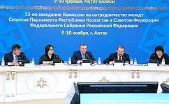 Российские сенаторы приняли участие взаседании Комиссии посотрудничеству между СФ иСенатом Парламента Казахстана