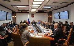 Сенаторы– члены профильных комитетов СФ обсудили вопросы обеспечения безопасности вобразовательных организациях