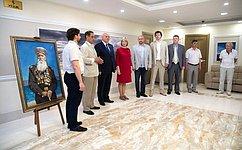 ВСовете Федерации открылась выставка живописи «Верность», приуроченная коДню России