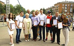 Л.Антонова наградила молодых активистов города Жуковский, работающих над социальными проектами