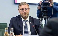 К.Косачев провел встречу c Послом Индии вРоссии Д.Бала Венкатеш Вармой