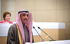 Председатель Национального собрания Государства Кувейт Марзук Али Мухаммед Аль-Ганим выступил назаседании Совета Федерации