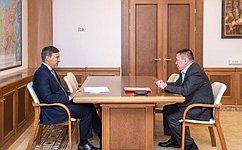 Г. Ледков обсудил сМинистром В. Фальковым развитие сферы образования коренных малочисленных народов