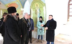 С.Попов провел рабочее совещание позавершению реставрации Собора Спаса Нерукотворного Образа вг.Тара Омской области