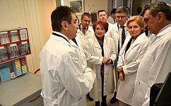 Н. Болтенко побывала вФедеральном центре нейрохирургии вНовосибирске