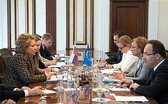 Председатель СФ В.Матвиенко встретилась сзаместителем Генерального секретаря Совета Европы Г.Баттаини-Драгони